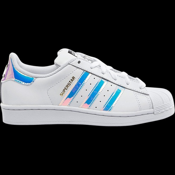 Zapatillas adidas superstar J zapatillas poshmark iridiscente